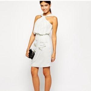 V Label grey with silver sparkles mini dress